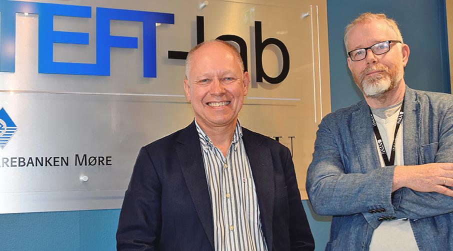 Leder for innovasjon i  Sparebanken Møre, Bjørn Petter Haugen og professor og leder for TEFT-lab, Øivind Strand.