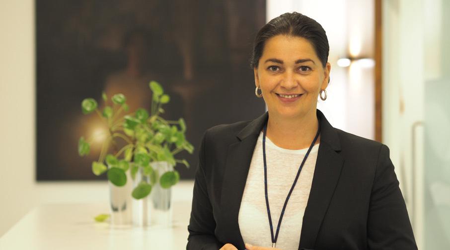 Cecilie Myrstad, leder i avdeling Kommunikasjon og samfunnskontakt i Sparebanken Møre.