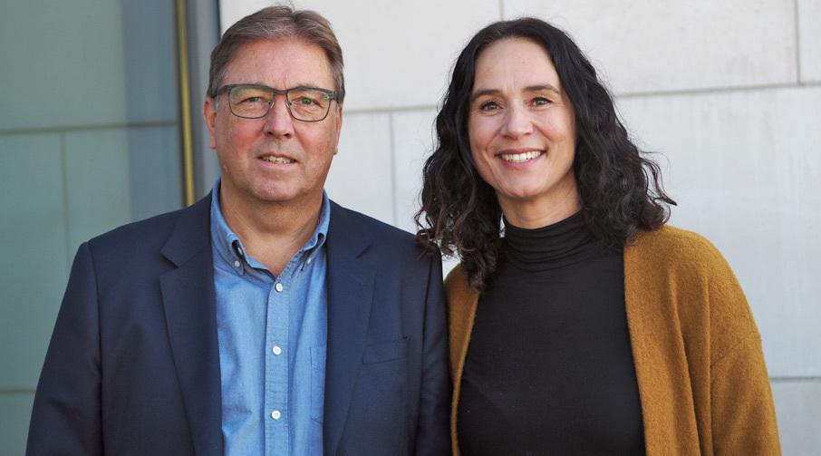 Assisterende banksjef Eiendom Vibeke Sjåstad Sand og Tor Ekroll, banksjef Eiendom i Sparebanken Møre.