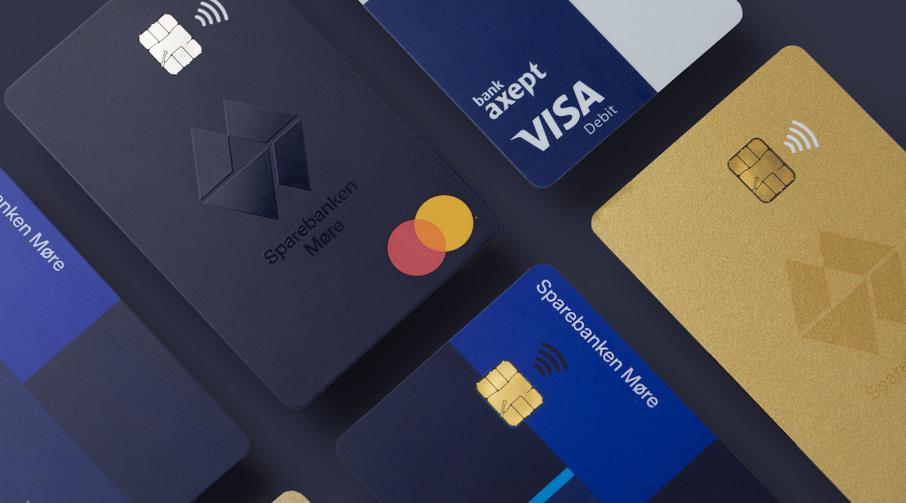 Debet og kredittkort.