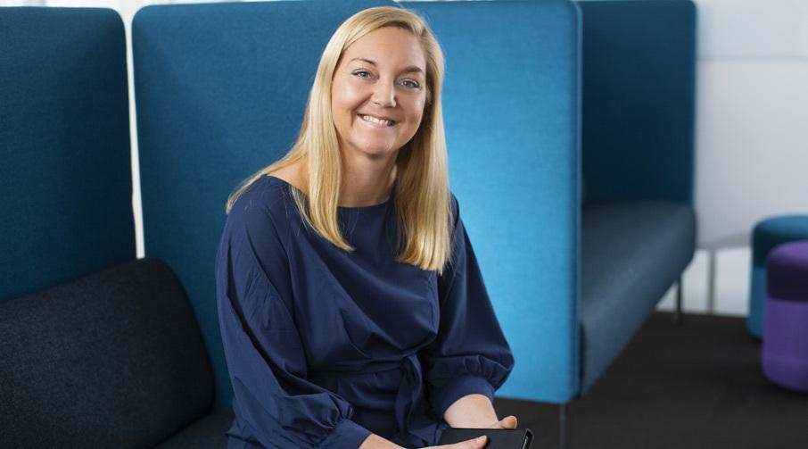 Linda Strømmen, banksjef for avd. Handel og Tjenesteytende næringer i Sparebanken Møre.