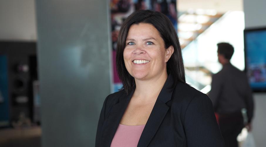 Ellen Cathrin Kvalsund, banksjef ved Sparebanken Møres avdeling i Ulsteinvik.