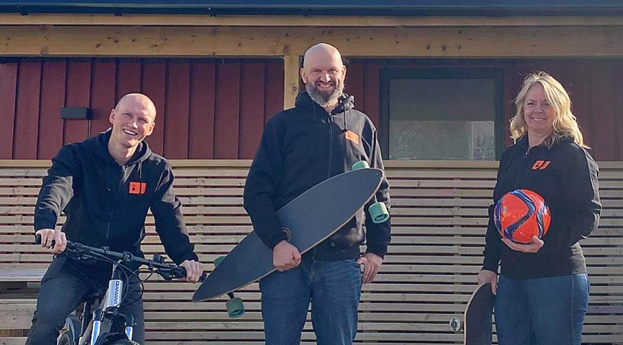 Tre ansatte i Skattkammeret: Sondre Stensbøl, Espen Ellefsen og Monica Uggedal Longva.
